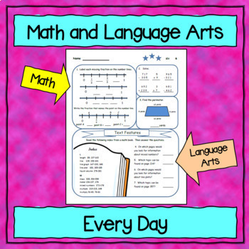 4th Grade Morning Work / Homework / Bell Work Free 10 Day Trial