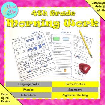 4th Grade Morning Work / Homework / Bell Work Free 10 Day Trial