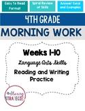 4th Grade Morning Work