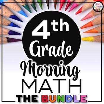4th Grade Morning Work: 4th Grade Spiral Math Review + Daily Math