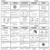 4th Grade Morning Work - 4th Grade Math Spiral Review - 4t