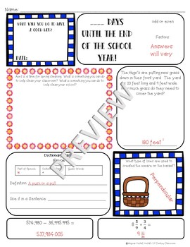 4th Grade Morning Work: April {Digital & PDF Included}