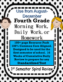 4th Grade Morning Work Common Core August-December
