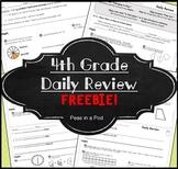 4th Grade Morning Work FREE! Fourth Grade FREEBIE