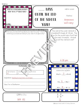 4th Grade Morning Work: May {Digital & PDF Included}