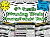 4th Grade Morning Work PowerPoints Unit from Lightbulb Minds
