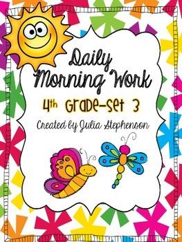 4th Grade Morning Work- Set 3