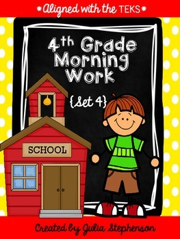 4th Grade Morning Work- Set 4