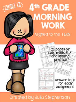 4th Grade Morning Work- Set 5