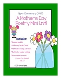 MOTHER'S DAY Mini Poetry Unit for 4th grade (adaptable for 3rd & 5th)