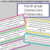 4th Grade Multi-Colored Chevron Math Common Core Objectives