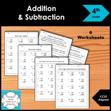 4th Grade Multi-Digit Addition & Subtraction Worksheet Pra