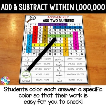 4th Grade Multi-Digit Addition and Subtraction Math Search {4.NBT.4}