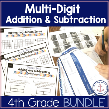 4th Grade Multi-Digit Addition and Subtraction Bundle