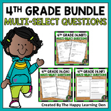 FSA Practice: Multi-Select Questions BUNDLE Base 10, Fract