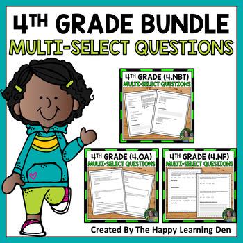 4th Grade Multi-Select Questions BUNDLE (Base 10, Fraction