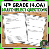 4th Grade Operations and Algebraic Thinking Test Prep