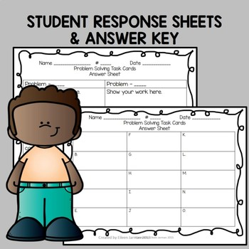 4th Grade Multi-Step Problem Solving Task Cards - Add, Subtract, Multiply