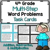 4th Grade Multi-Step Problem Solving Task Cards - Add, Sub
