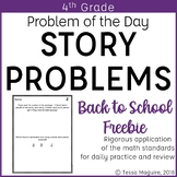 4th Grade Multi-Step Word Problem of the Day Story Problems- BTS Freebie