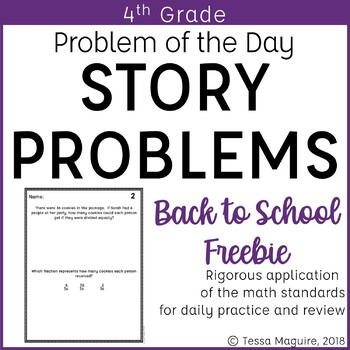 4th Grade Multi Step Word Problem Of The Day Story Problems