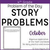 4th Grade Multi-Step Word Problem of the Day Story Problems- October