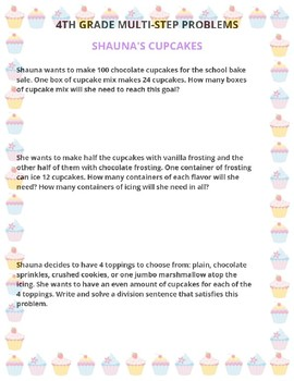 Parties and Collections: 4th Grade Multi-Step Word Problems