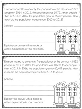 4th Grade Multi-Step Word Problems (Interactive Notebook)