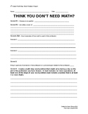 4th Grade Multi-step Word Problem Project - Think You Don't Need Math?
