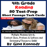 4th Grade Multiple Meaning, Context Clues; Reading Test-Prep Task Cards