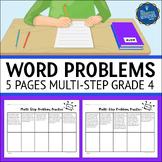 Multi Step Word Problems 4th Grade