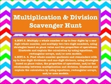 4th Grade Multiplication and Division Scavenger Hunt