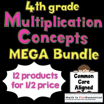 4th Grade Multiplication Concepts Mega Bundle 4.OA.B.4