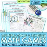 4th Grade Multiplication & Division Games | No Prep Hands-