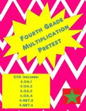 4th Grade Multiplication/Division Pretest