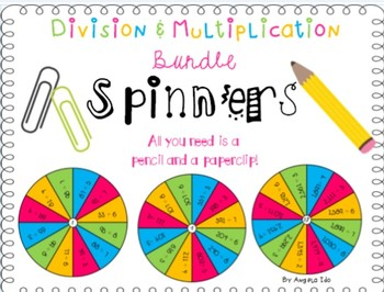 4th Grade Multiplication & Division Spinners 4NBT.B5&6
