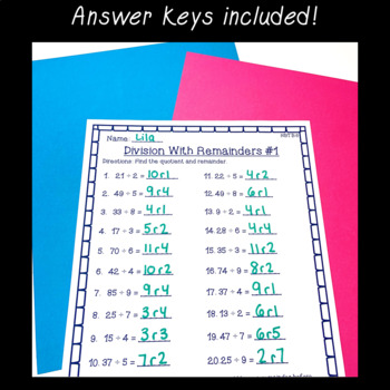 4th Grade Multiplication Amp Division Worksheet Pack Multi