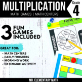4th Grade Multiplication Games and Centers