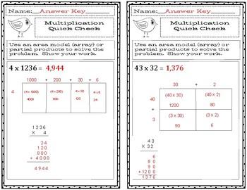 4th Grade Multiplication Practice