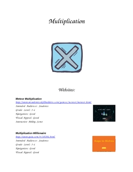 4th Grade Multiplication Resources