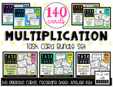 4th Grade | Multiplication Task Card Bundle (140 Task Cards)