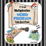 4th Grade Multiplication Word Problem Task Card Pack