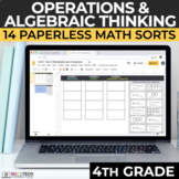 4th Grade Multiplication and Division Math Sorts Google Sl