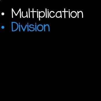 Multiplication and Division Math Unit 4th Grade Common Core Bundle