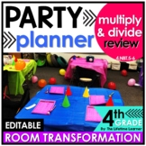 4th Grade Multiplication and Division   Party Room Transformation
