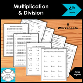 4th Grade Multiplication and Division Worksheet Practice Set
