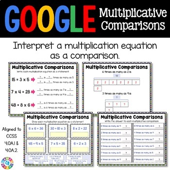 4th Grade Multiplicative Comparisons {4.OA.1, 4.OA.2} - Google Classroom
