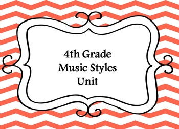 4th Grade Music Units Bundle