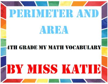 4th Grade My Math Vocabulary Bundle