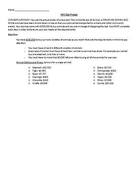 4th Grade NBT.4, OA.1, OA.2, OA.3, NBT.5, NBT.6, MD.3 Project